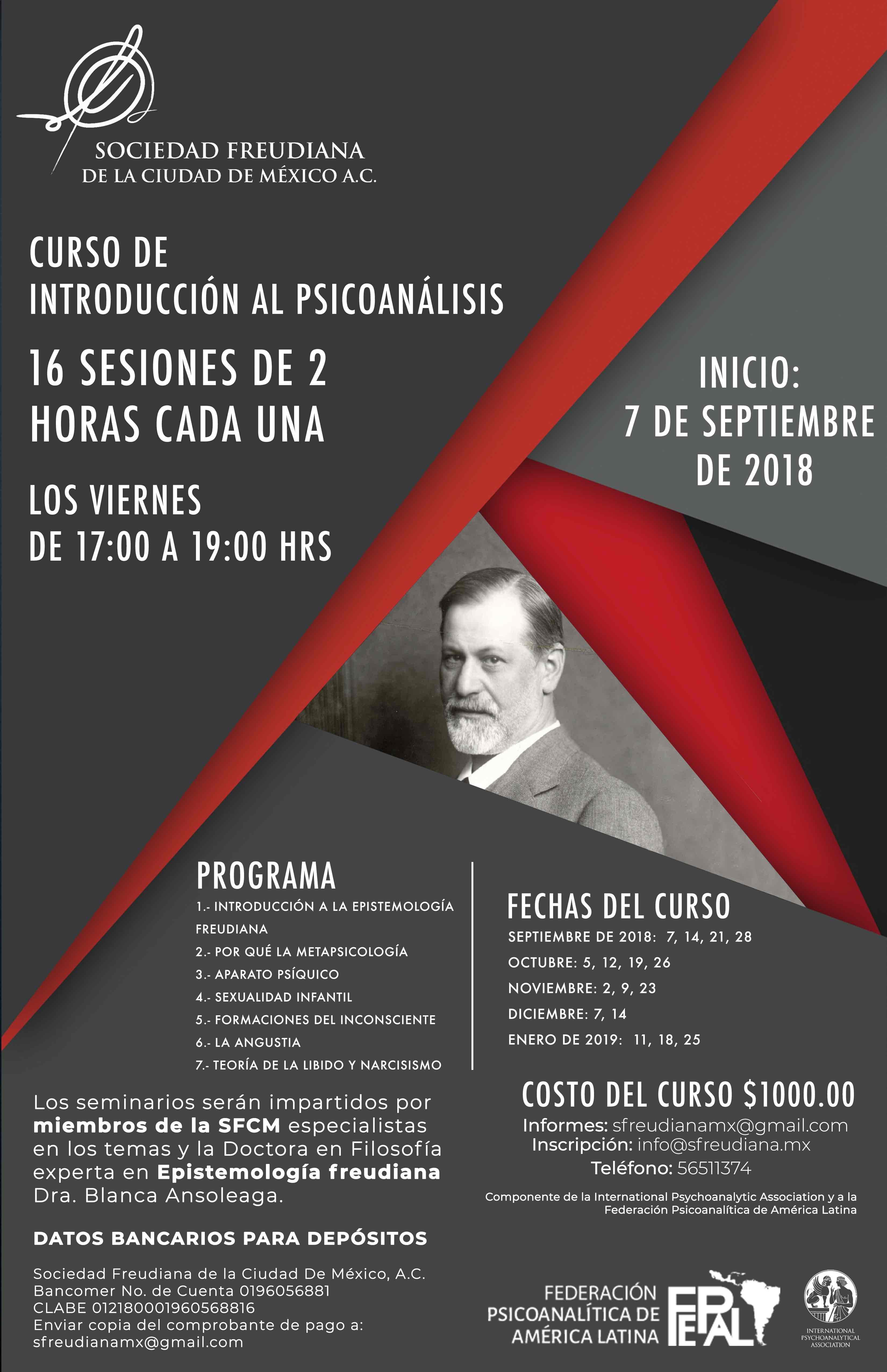 Curso introductorio al Psicoanálisis póster